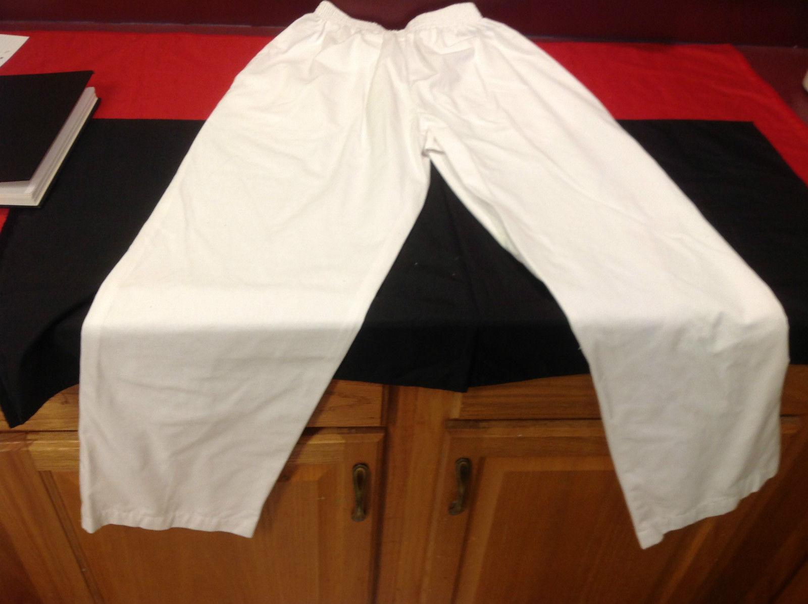 Ladies White Buttom Scrub Pants Landau No Tag 12 Inch W 41 Inch L