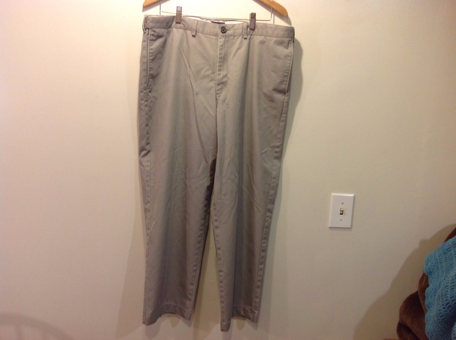Lands End Men's Gray Dress Slacks Traditional Fit