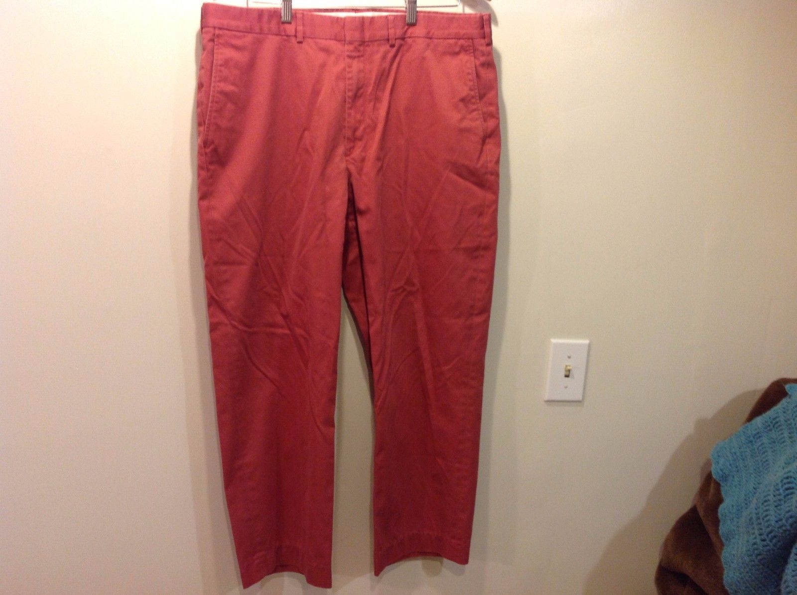 Lands End Red Casual Slacks Pants Mens