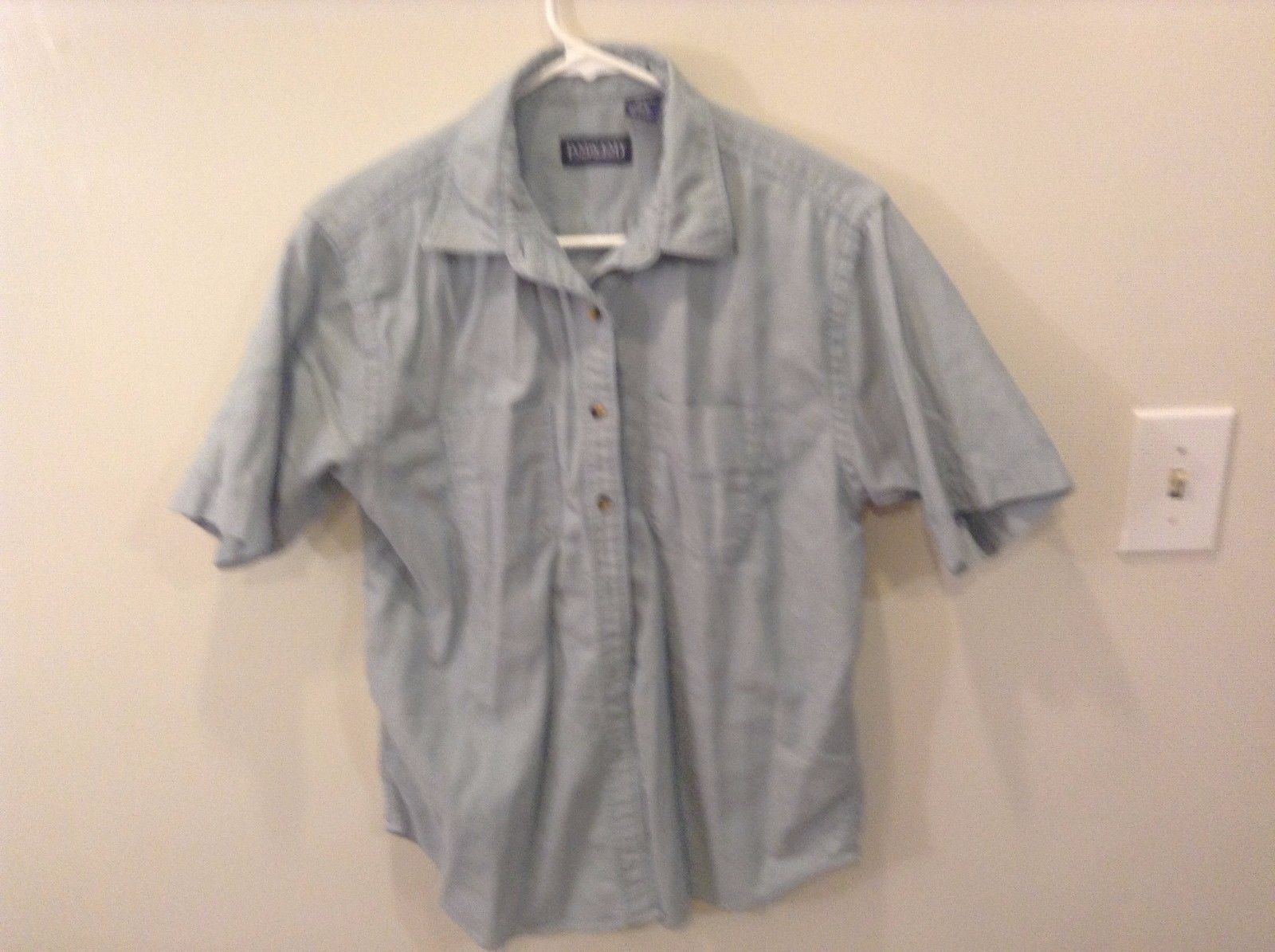 Lands End Men's Button Up Casual Shirt Cotton