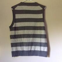 J Crew Size Medium Soft Gray Striped V Neck Vest image 4