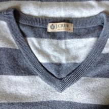 J Crew Size Medium Soft Gray Striped V Neck Vest image 5