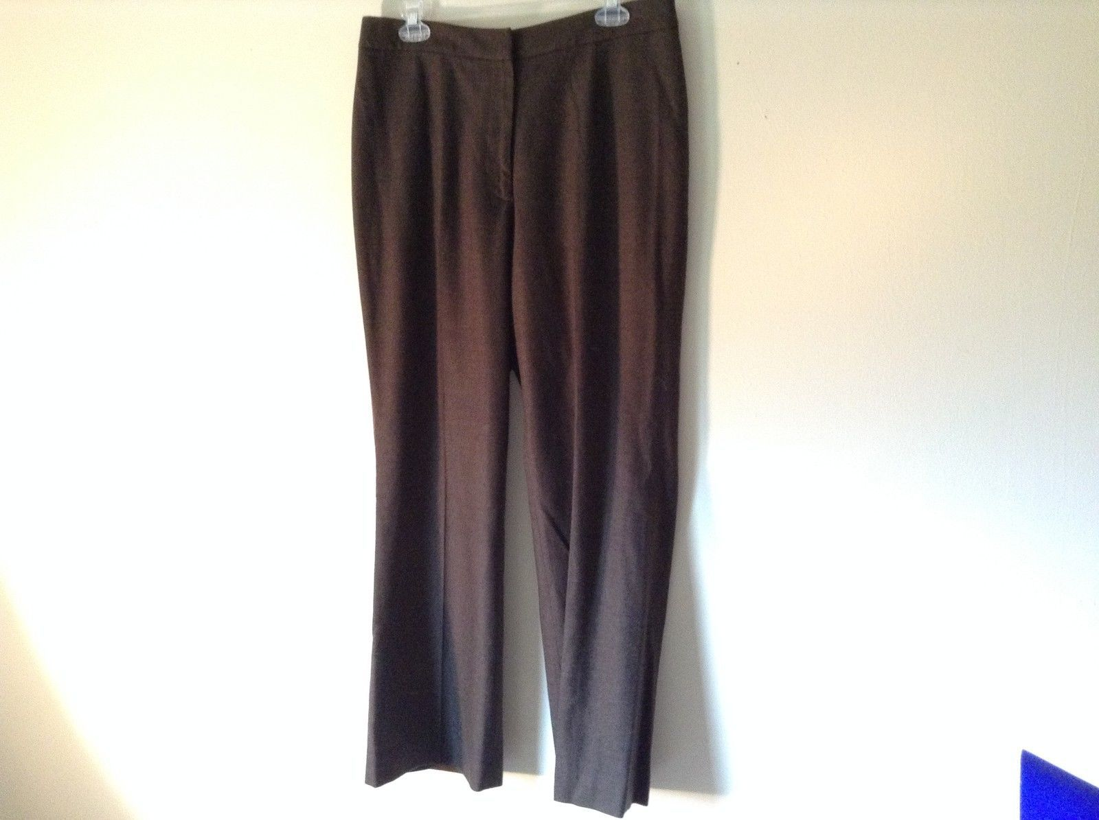 Lands End Size 12 Brown Wool Dress Pants High Quality Fabric
