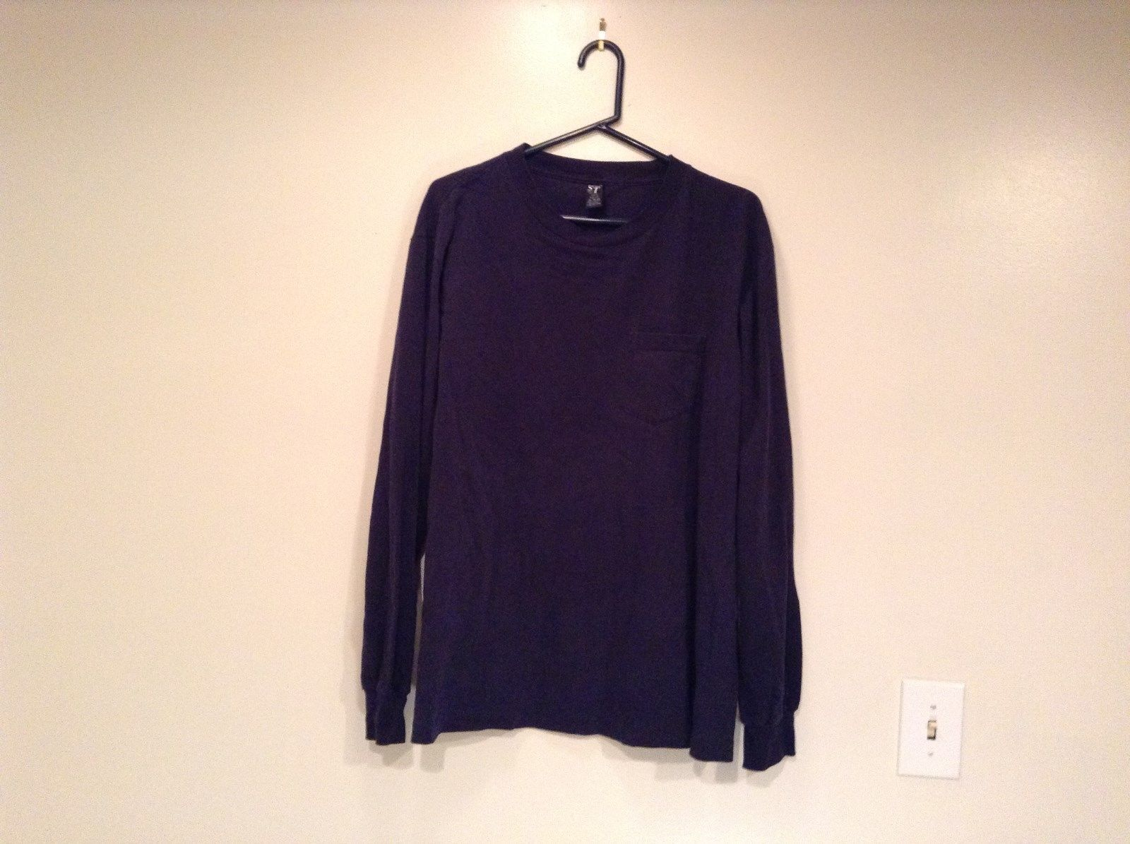Lands End Super T Long Sleeve Dark Blue T Shirt Size XL 46 to 48 Made in USA
