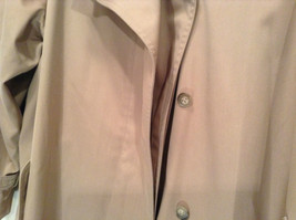 J G Hook Long Tan Trench Coat Size 16 Hidden Button Front Closure image 4