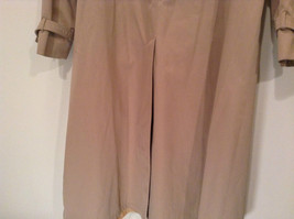 J G Hook Long Tan Trench Coat Size 16 Hidden Button Front Closure image 6