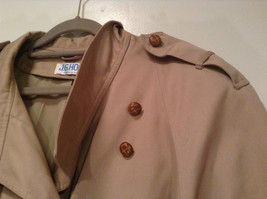 J G Hook Long Tan Trench Coat Size 16 Hidden Button Front Closure image 5