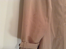 J G Hook Long Tan Trench Coat Size 16 Hidden Button Front Closure image 7