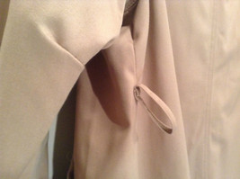 J G Hook Long Tan Trench Coat Size 16 Hidden Button Front Closure image 9