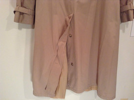 J G Hook Long Tan Trench Coat Size 16 Hidden Button Front Closure image 8