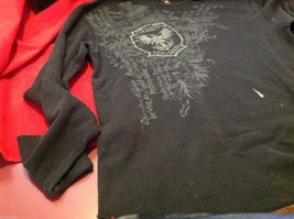 J Ferrar modern fit graphic thermal Tee t shirt black with gray eagles image 4