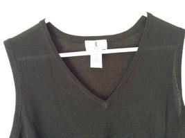 J L Studio Black Sleeveless V Neck Top Size 1X Two Piece image 2