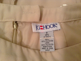 J G Hook Jacket and Skirt Set Size 8 Cream Fully Lined 100 Percent Polyester image 10