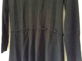 J L Studio Black Cardigan Two Piece Black Belt Long Sleeve Measurements Below image 8