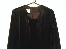 JBS Size 10 Black Velvet Dress and Attached Jacket Back Zipper Closure Very Nice image 2