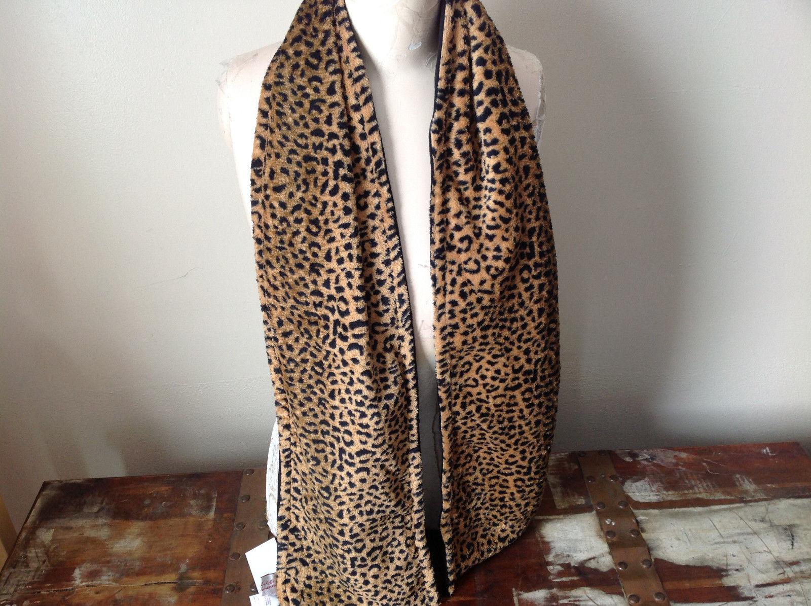 Microfiber Faux Fur Cheetah Soft Scarf See Measurements Below