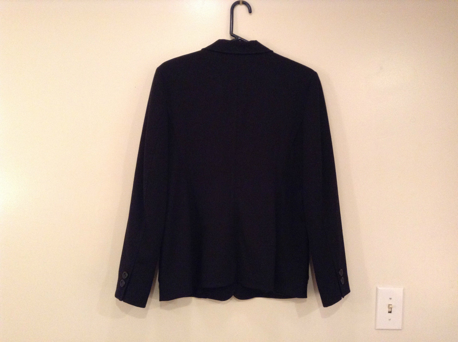 Milano Black Size 11 to 12 Lined Blazer 3 Button Closure Decorative Pockets