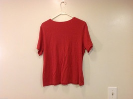 JM Woman Collection Stretch Calm Red Scoop Neck Classic T-shirt, Size 1X image 2