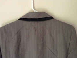 Jacket and Pant Suit by Kasper Grayish Green Striped Fancy Buttons Size 8P image 4