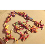 Large Festival Crescent Moon Stars Strand w Beads and Bell String Connector - $34.64
