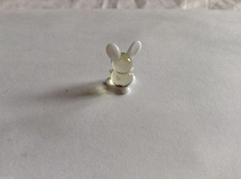 Micro Miniature hand blown glass made USA NIB clear and white bunny image 2