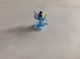 Micro Miniature hand blown glass made USA NIB blue puppy with bone image 3