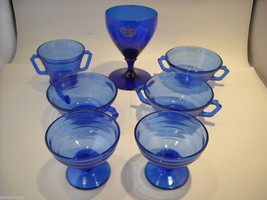 Large Lot of Cobalt Blue Glasses vintage