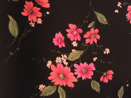 Jaclyn Smith Plus Black with Pink Flowers Skirt Elastic Waist in Back Size 3X image 4