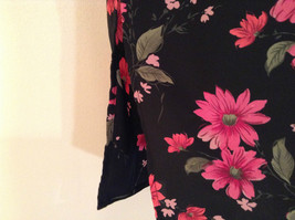 Jaclyn Smith Plus Black with Pink Flowers Skirt Elastic Waist in Back Size 3X image 5
