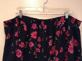 Jaclyn Smith Plus Black with Pink Flowers Skirt Elastic Waist in Back Size 3X image 6