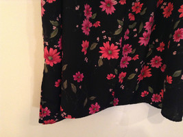 Jaclyn Smith Plus Black with Pink Flowers Skirt Elastic Waist in Back Size 3X image 7