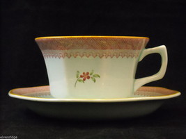 Adams modern issue  Lowestoft  tea cups  saucers CalyxWare Ironstone image 2