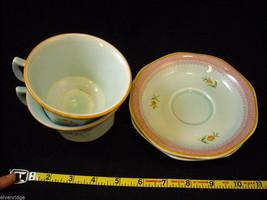 Adams modern issue  Lowestoft  tea cups  saucers CalyxWare Ironstone image 3