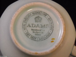 Adams modern issue  Lowestoft  tea cups  saucers CalyxWare Ironstone image 4