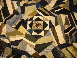 Large antique crazy quilt with fascinating design work of art image 1