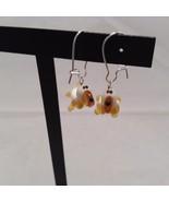 Miniature small hand blown glass made USA NIB basset hound dog earrings - $31.18