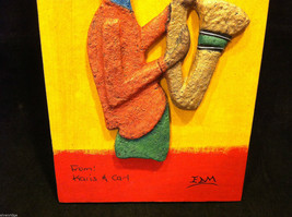 Jamaican Eco Friendly Painting of Saxophone Player Signed E. Dain Mcleod image 5