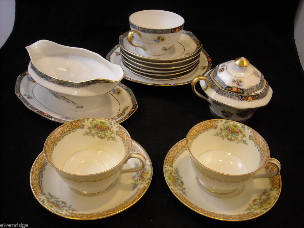 Mixed lot of China pieces from Japan and Czechoslovakia Noritake