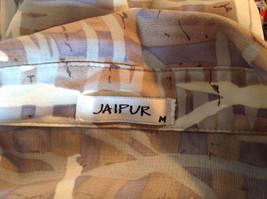Jaipur Pale Purple Tan Paintbrush Design Button Up V Neckline Shirt Size Medium image 7