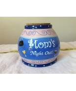 Moms Night Out Jar Bella Casa Ganz Wine Cork Lid Blue and Pink with Wine... - $39.59