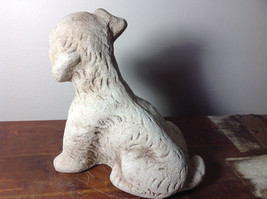 Adorable Large Clay  Dog Figurine Rough Heavy Solid Made in England image 2