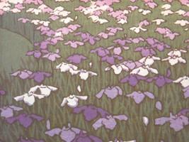 Japanese Color Woodblock Reprint 1951 Iris Garden at Meiji Shrine image 4