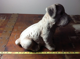 Adorable Large Clay  Dog Figurine Rough Heavy Solid Made in England image 6