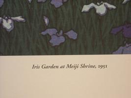 Japanese Color Woodblock Reprint 1951 Iris Garden at Meiji Shrine image 5