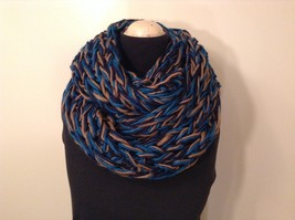 Large weave fashion INFINITY scarf w vintage look NEW in choice of colors