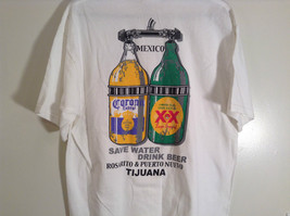Jerzees Cerveza Mexicana Mexican Beer White Graphic Short Sleeve T Shirt Size XL image 4