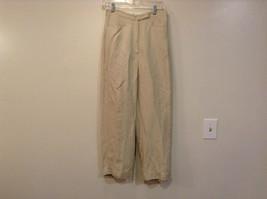 Larry Levine Petite Sport Size 8P Tan Casual Pants Button and Zipper Closure
