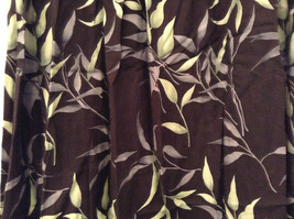 Jessica Stevens Skirt Black with Leaves Pattern Elastic Waist Size 2X image 4