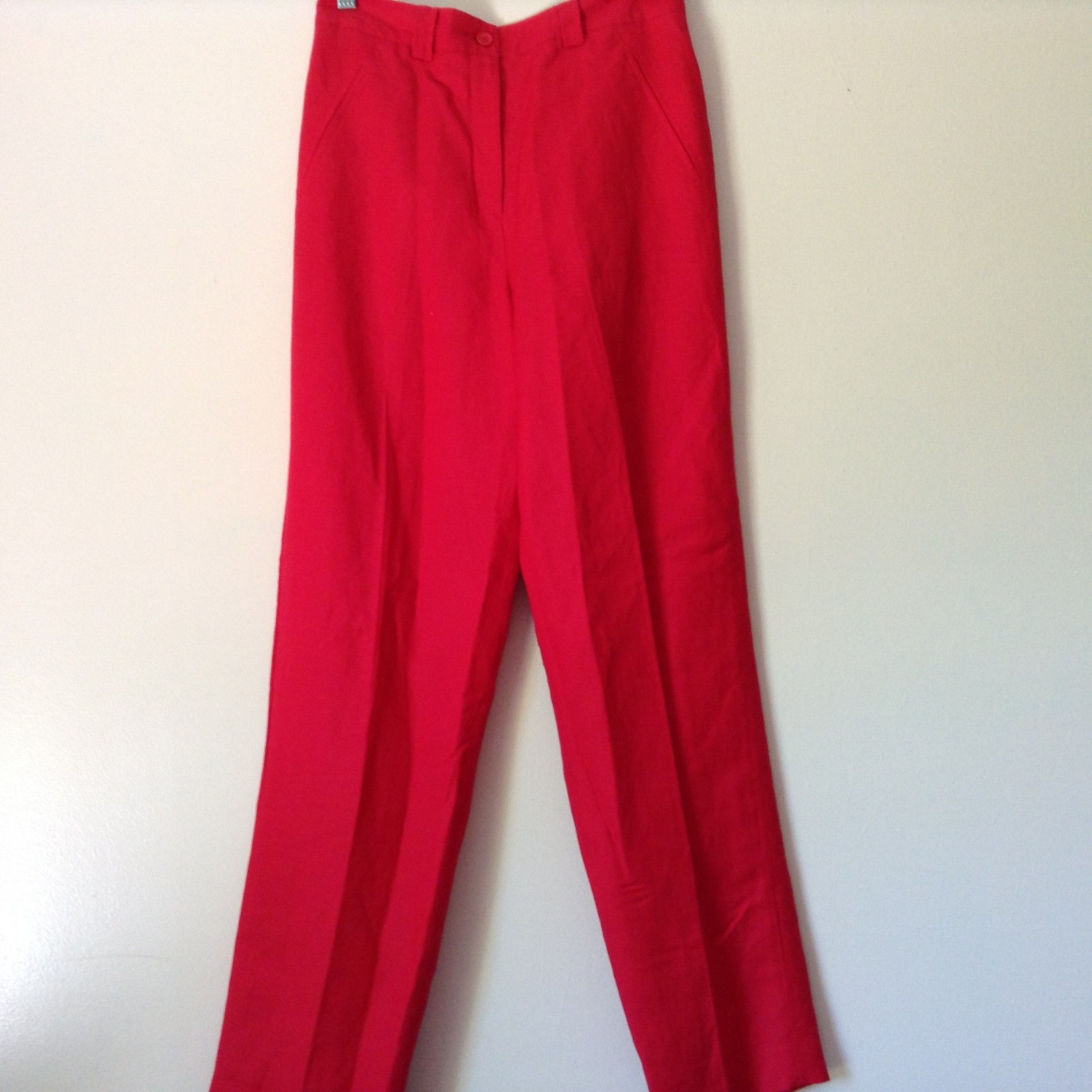 Larry Levine Sport Bright Red Pants Lining is 100 Percent Polyester