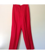 Larry Levine Sport Bright Red Pants Lining is 100 Percent Polyester - $44.54